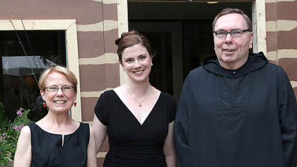 Pat Reilly, Colleen Reilly and the Rev. Bonaventure Curtis.