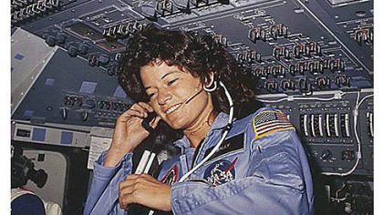 Sally Ride in 1983  as America's first female astronaut