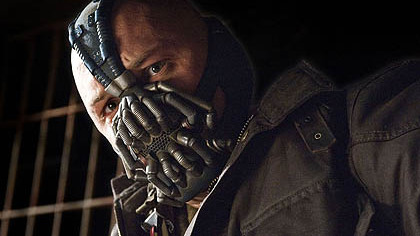 "Tom Hardy as Bane in ""The Dark Knight Rises."""