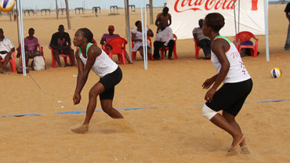 Women competing in the beach volleyball Continental Cup in Togo wear uniforms approved under the sport's new uniform regulations, which allow players to wear apparel that provides more coverage.