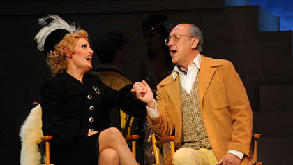 "Liz Callaway as Norma Desmond and Jeff Howell as Cecil B. DeMille in Pittsburgh CLO's season-ending ""Sunset Boulevard."""