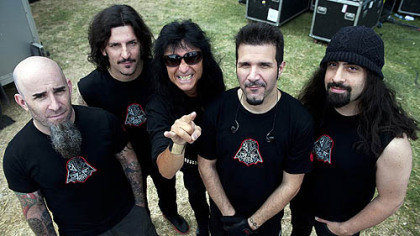 Anthrax -- Scott Ian, left, Frank Bello, Joey Belladonna, Charlie Benante and Rob Caggiano.