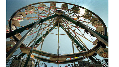 The ferris wheel at the Allegheny County Fair.