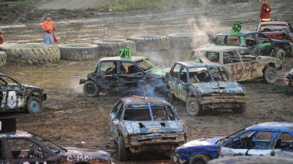 Demolition Derby at the Westmoreland County Fair.