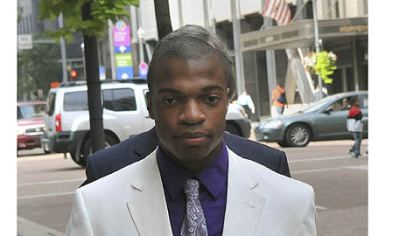 Jordan Miles enters the Federal Courthouse.