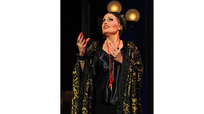 "Liz Callaway portrays silent screen siren Norma Desmond in Pittsburgh CLO's production of ""Sunset Boulevard."""