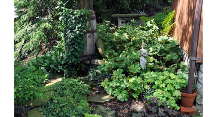 This is the woodland portion of the Jim and Mary Beth Crawford's garden.