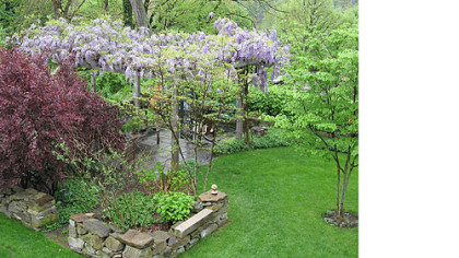 Early spring in the Jim and Mary Beth Crawford's Banksville garden.