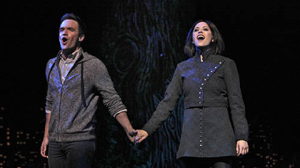 Brian Justin Crum (Lucas Beineke) & Cortney Wolfson (Wednesday).