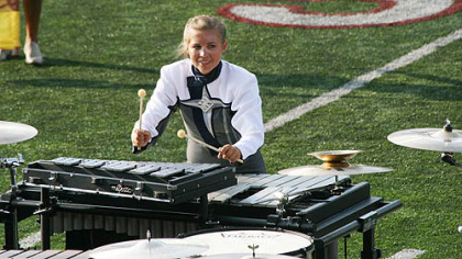 Kim Minnotte of the Blue Stars Drum and Bugle Corps.