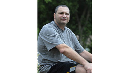 Chris Bauer, 45, has chronic gout in his elbows, hands, knees and feet.