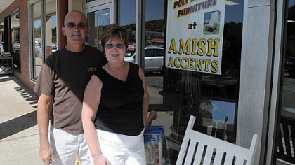 Bud and Mary Anne Winovich, owners of Amish Accents, sell authentically made Amish furniture, though they are not Amish themselves.