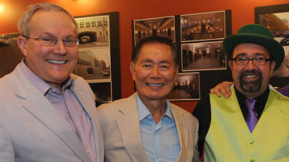 Brad Altman, George Takei and Joe Wos.