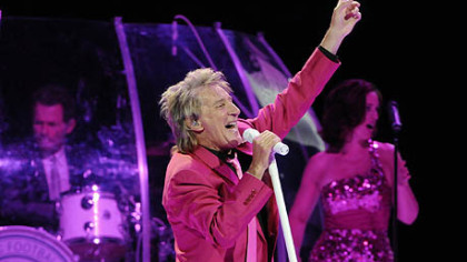 Rod Stewart performs at Consol Energy Center as part of the Heart & Soul Tour with Stevie Nicks.