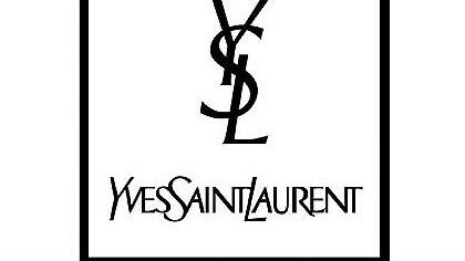 The Yves Saint Laurent logo, prior to the name change ordered by new artistic director Hedi Slimane.