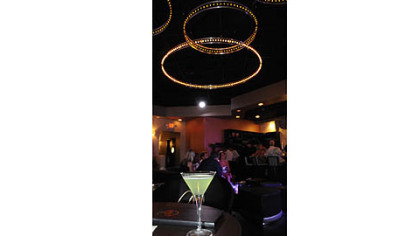 A drink in  Perle in Market Square, a new night club that has champagne on tap.
