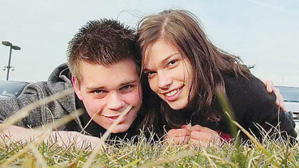 Katie Puwalowski, right, with her boyfriend,  Dean Graner, in a photo from her  Facebook page.