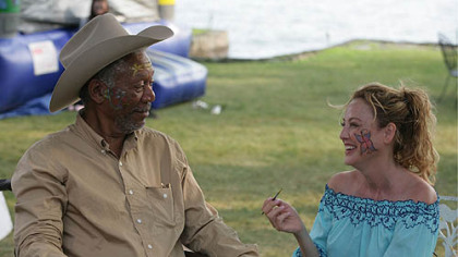 "Morgan Freeman and Virginia Madsen form an unlikely relationship in ""The Magic of Belle Isle."""