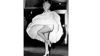 "A publicity photo for ""The Seven Year Itch"" (1955), in which she enjoyed a blast of steam from a subway on Lexington Avenue at 52nd Street in Manhattan."