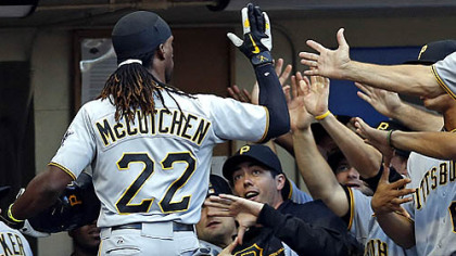 Andrew McCutchen was player of the month for a second time in July.