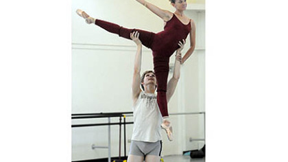 Nicholas Coppula and Alexandra Kochis execute a lift.