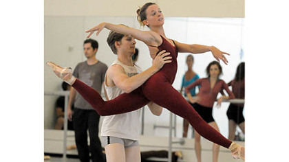 "Nicholas Coppula with Alexandra Kochis in ""Step Touch."""