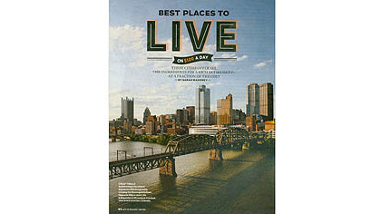 "Pittsburgh ranked first on the ""Best Cities for Successful Aging"" index."