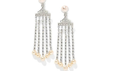 From HSN's Jewelry of Legends Collection, inspired by Marilyn Monroe, crystal cascade earrings ($59.95).