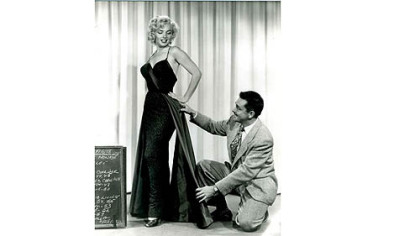 Marilyn Monroe with designer William Travilla.