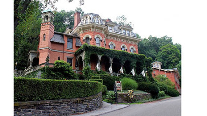 The historic Harry Packer Mansion in Jim Thorpe, Pa.