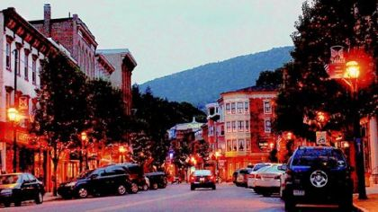 A view of Broadway in Jim Thorpe.