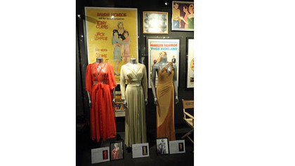 Marilyn's dresses on display at the Hollywood Museum.