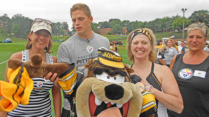 "deb shared this photo of Shaun Suisham with the title ""Suisham fun with Steelers Fans."" Share your training camp pictures with Steeler Nation at www.post-gazette.com/yourphotos"