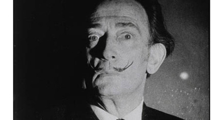 Still from screen test by Salvador Dali in 1966.