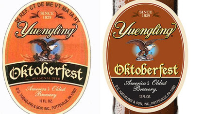 "The beer maker's version of the label would place the word ""Oktoberfest"" in a slightly curved box, according to a copyright infringement lawsuit filed last week, while Adam J.  D'Addario's version places it on a straight line."