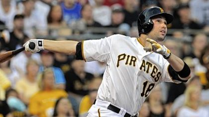 The Pirates' Neil Walker hits a three-run home run against the Diamondbacks in the first inning Wednesday night at PNC Park.
