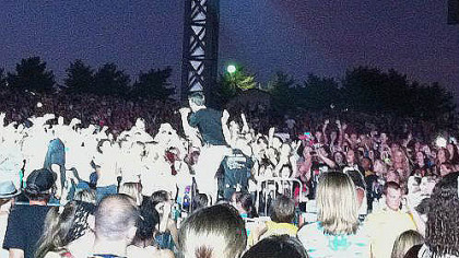 Logan Henderson of Big Time Rush ventures into the crowd