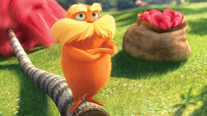 "Danny DeVito voices the title character of ""Dr. Seuss' The Lorax."""