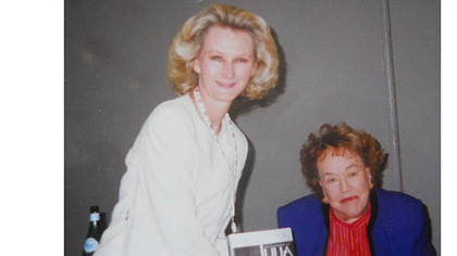 Chef and author Christy Rost with Julia Child.