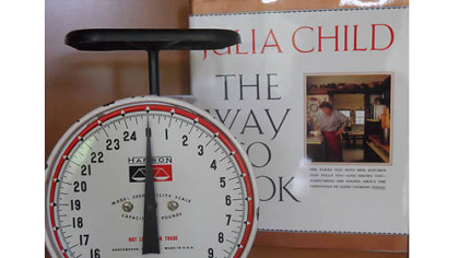 "Chef Christy Rost now owns the scale that appeared on the cover of ""Julia Child: The Way to Cook."""