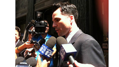 Pittsburgh City Solicitor Daniel Regan speaks to the media after the announcement of a partial verdict in the civil trial filed by Jordan Miles against three Pittsburgh Police officers accused of violating his civil rights.