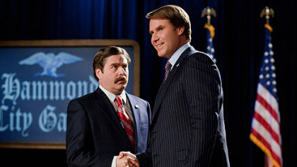 "Zach Galifianakis and Will Ferrell star in ""The Campaign."""