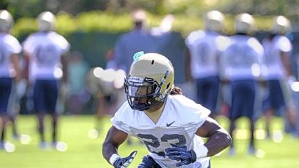 Pitt redshirt freshman cornerback Lafayette Pitts has worked primarily with the first team this first week of camp.