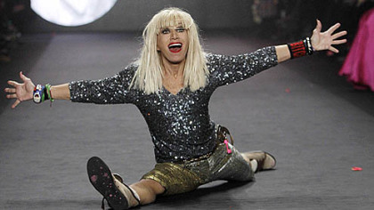 The catwalk cartwheel queen, Betsey Johnson, is back with a new dress line for spring 2013.