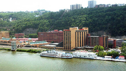 Station Square is seen across the Monongahela River from Downtown.