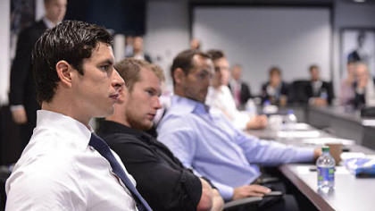 Sidney Crosby at the Toronto meeting between the NHL and the NHL Players&#039; Association.