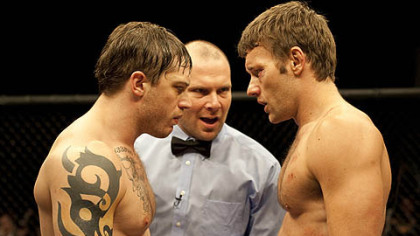 "Tom Hardy, left, and Joel Edgerton star as brothers Tommy and Brendan in ""Warrior,"" a movie made in Pittsburgh that was released last year."