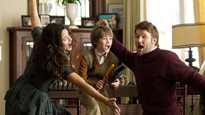 "Jennifer Garner, CJ Adams and Joel Edgerton are family in ""The Odd Life of Timothy Green."""