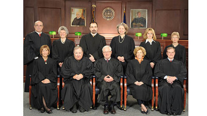 The 2012 Pennsylvania Commonwealth Court. Judge Robert Simpson is seated on the right, in the front row.