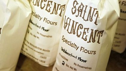 Saint Vincent flour made at the gristmill just outside of Latrobe and off Route 30.